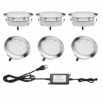 QACA LED Deck Lamp 2.5W IP67 Waterproof Recessed Inground Lights Garden Stairs Path Outdoor Decoration 6pcs/set B107-6