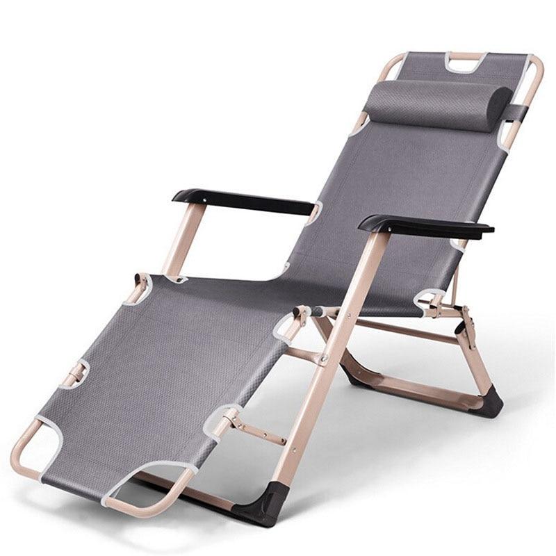 Pliage Sieste Fauteuil inclinable Assis Pose Sieste Chaise longue Canapé D'hiver D'été De Pêche Chaise De Plage En Plein Air Meubles de Maison dans Chaises de plage de Meubles