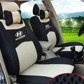 Серый/красный/бежевый/синий Вышивка логотипа Автомобиля Сиденья Передняя и Задняя полный 5 Место Для Hyundai СОНАТА ELANTRA VERNA Avante Accen
