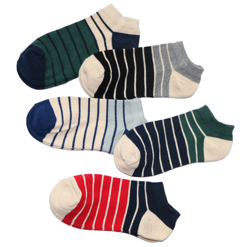 3Pair Colorful Striped Socks Men Funny Ankle Socks Short Meias Calcetines Hombre Male Socks Art Chaussettes Homme
