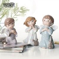 Europejskiej Oszczędny Handmade Mały Anioł Rzeźby z Żywicy Biżuteria Craft Exquisite Prezent Biały Posąg Anioła Dekoracji Domu