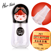 Travel Mini 70ml Empty Sample Plastic Cosmetic Refillable Spray Bottle Makeup Container perfume Round Transparent atomizer