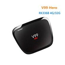 [WeChip] V99 H-E-R-O Android 5.1 TV Box RK3368 4 GB 32 GB Set Top Box Full Hd Media Player 1000 M LAN/BT4.0 V99 HERO TV Box