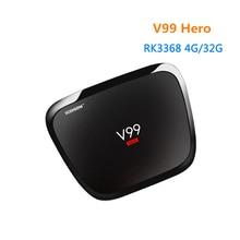 [WeChip] V99 RK3368 H-E-R-O android tv box 5.1 OS 4 GB 32 GB mi caja Hd Media Player 1000 M LAN/BT4.0 V99 caja HÉROE tv