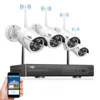 Hiseeu 4CH Беспроводной NVR комплект P2P 1080 P/960 P дома ИК безопасности водонепроницаемый уличного IP Камера CCTV WI FI системах видеонаблюдения Системы к