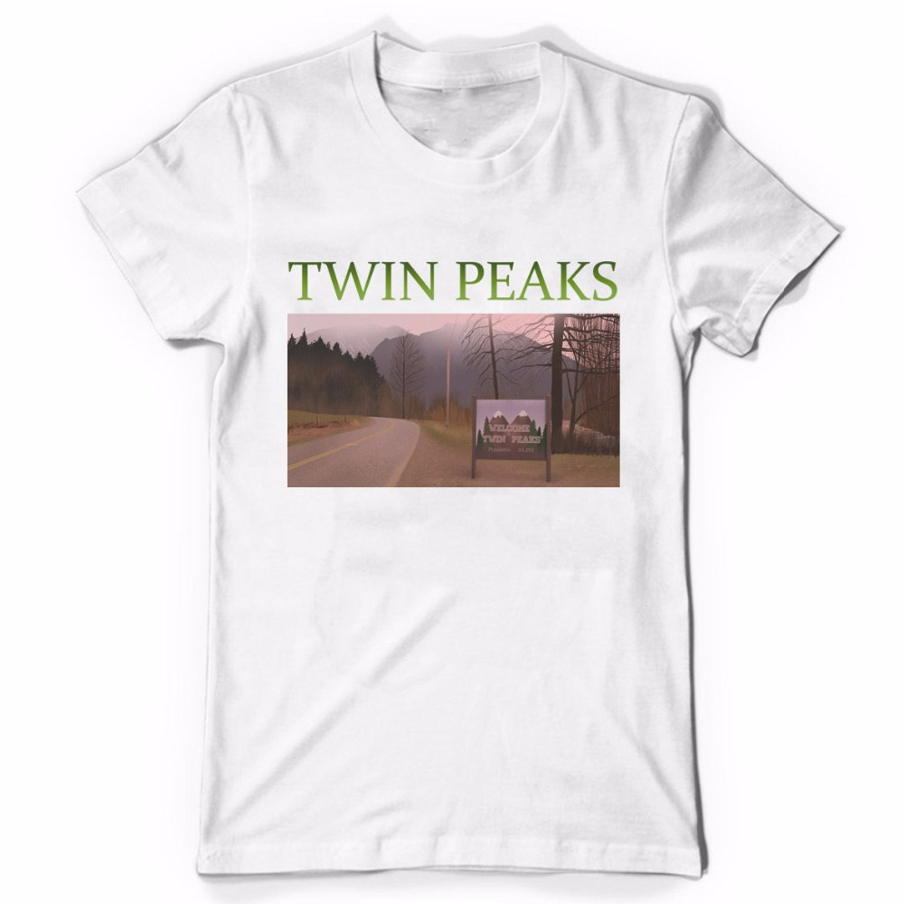 2017 New Fas hions Awesome Tees MenS Crew Neck Novelty Short Twin Peaks Tees