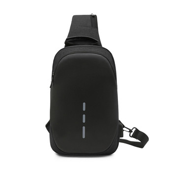 Ygdb Design Crossbody Bags Oxford Casual USB Charging Flap Sling Shoulder Bags Chest Pack Travel Male Messenger Bag 1603# men crossbody bags sling shoulder bag male chest pack canvas messenger bags small sling pack ipad phone travel bag sacoche homme