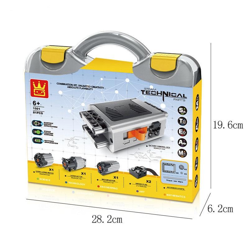 81PCS MOC Legoinges Technic Train Motor Remote Motor Technic Series 8881 8882 8883 Technic Power Functions WITH BOX