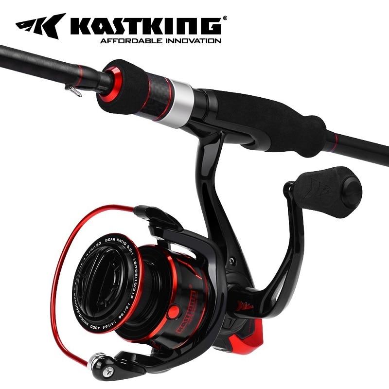 KastKing Sharky III Fishing Reel + Geminus Fishing Rod Combo Spinning Fishing Combo