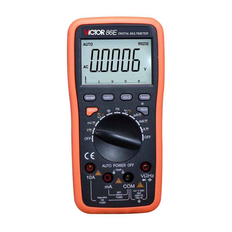 VICTOR victory multimeter VC86E 4 1/2 Digit Precision multimeter / frequency / capacitance / temperature with USB