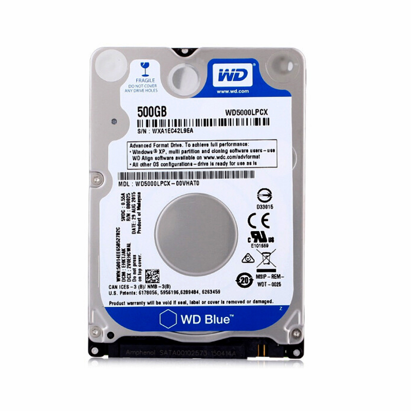 Western Digital WD Blue 500GB hdd 2.5 SATA disco duro laptop internal sabit hard disk drive interno hd notebook harddisk disque g5nb 1a e 24vdc g5nb 1a 24vdc