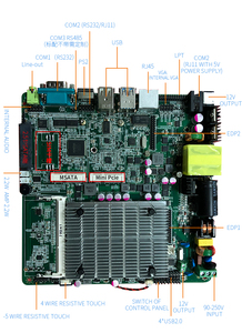 Image 4 - low cost intel celeron J1900 processor itx industrial motherboard 3*USB for vending machine