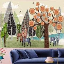 Creative elk structure style wall cloth personality Hippie Wall Hanging beach tapestry Mandala Art Decor Bohemian GN.PAPAYA