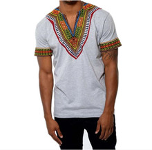 Men's T-Shirt with Traditional African Ornament