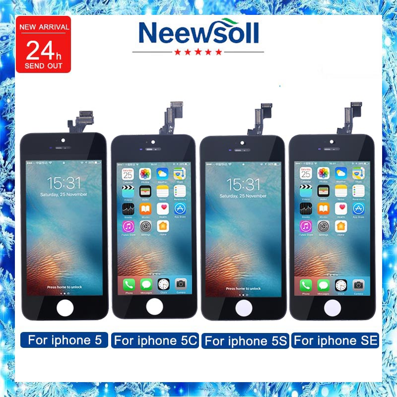 Neewsoll Factory Sale LCD For Iphone5 5c 5s se Screen Display Part Glass Touch Panel Digitizer Assembly