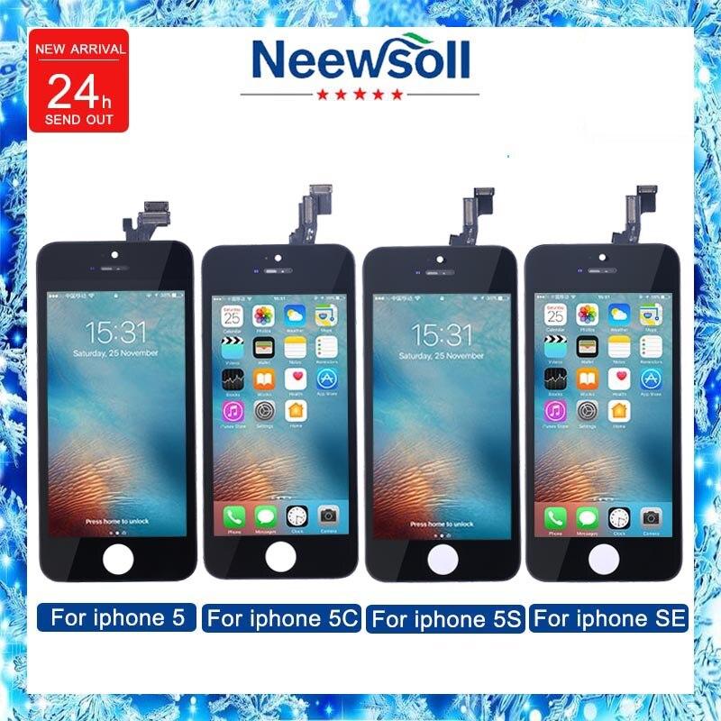 Neewsoll Vendita Della Fabbrica LCD Per Iphone5 5c 5 s se Screen Display Parte di Vetro Touch Panel Digitizer Assembly