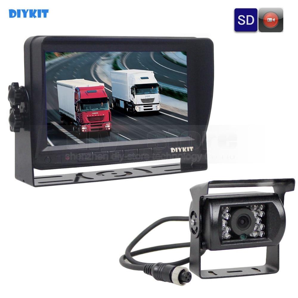 DIYKIT AHD 7inch TFT LCD Car Monitor Rear View Monitor Waterproof IR 1300000 Pixels AHD Camera