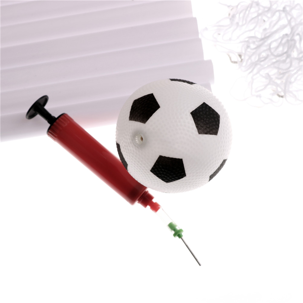1 Set Child Birthday Gift Plastic Folding Mini Football Soccer Ball Goal  Post Net Set + Pump Kids Sport Indoor Outdoor Games Toy-in Soccers from  Sports ... 13916b614b