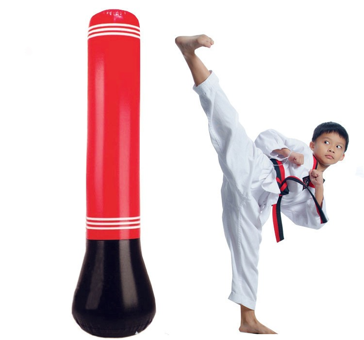 Us 30 99 Air Pump Gift Kid Gloves Punching Bag Stand Tower Inflatable Column Sd Boxing Training Playground Toy In