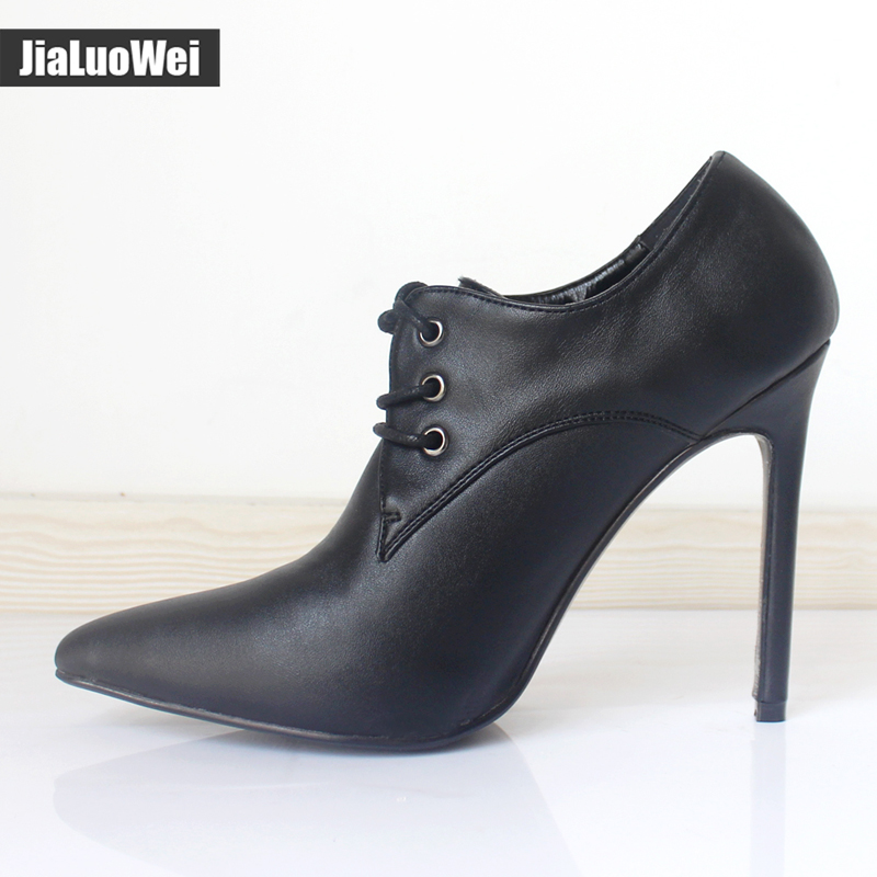 jialuowei patent leather 12cm high heels Sexy women pumps thin heels Classics Lace Up Pointed Toe woman Party Wedding shoes in Women 39 s Pumps from Shoes