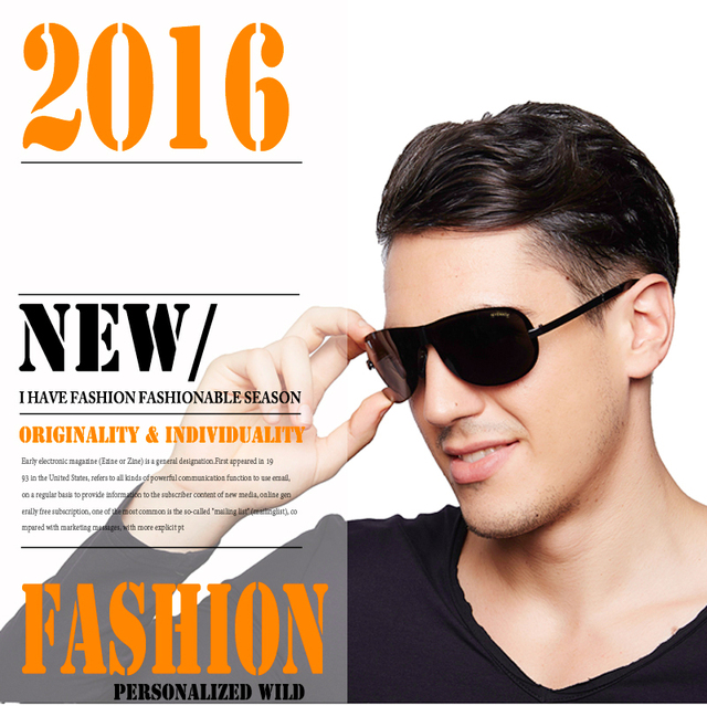 2016 Hot Selling Fashion Polarized Outdoor Driving Sunglasses for Men glasses Brand Designer with High Quality 4 Colors