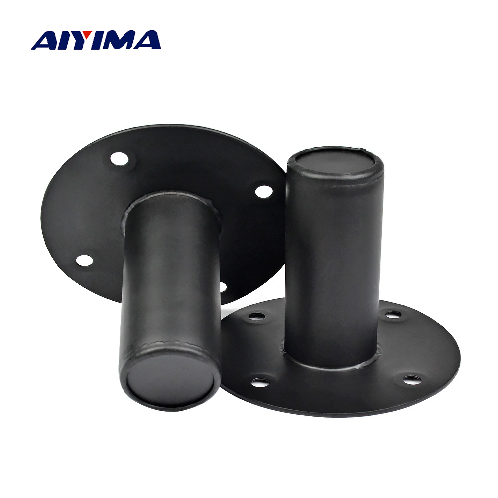 AIYIMA 2Pcs Professional Audio Speaker Stand Iron Sound Mounting Tray Base Speakers Repair Parts Accessories DIY Home Theater