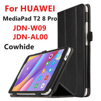 Case Cowhide For Huawei MediaPad T2 8 Pro Genuine Leather Protective Case For HUAWEI Honor Tablet