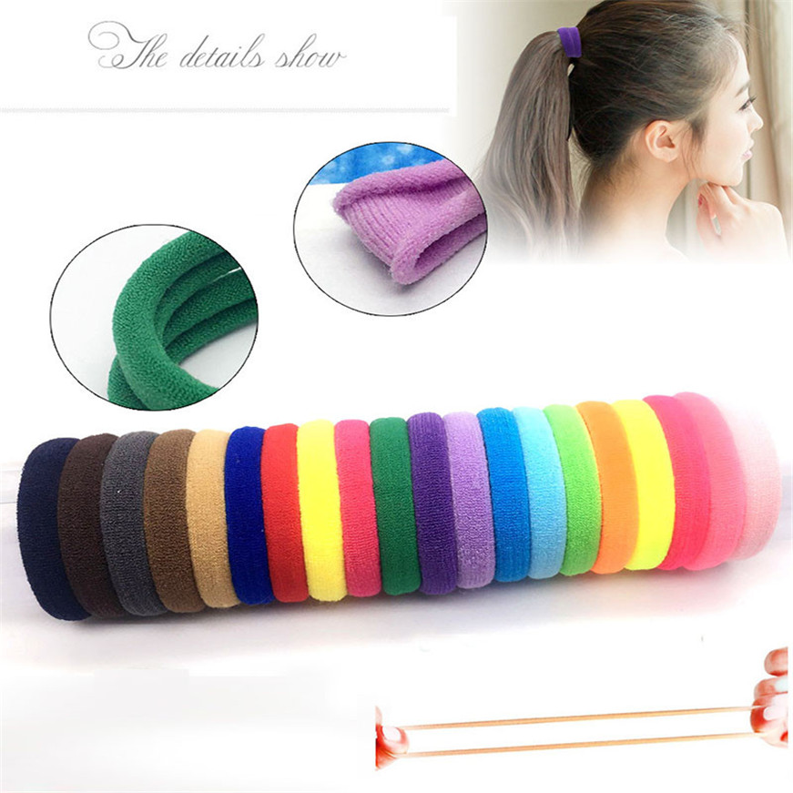 Hair Band Satin HighElastic Towel Cloth Hair Accessories FashionElastics For Hair For Fitness