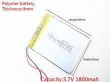 3.7 V 1800 mAh 405060 แบตเตอรี่ลิเธียมโพลิเมอร์ Li   Po li ion แบตเตอรี่เซลล์สำหรับ Mp3 MP4 MP5 GPS PSP โทรศัพท์มือถือบลูทูธ