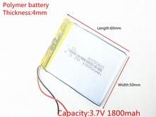 3.7 V 1800 mAh 405060 Lithium Polymer Li Po lý Sạc ion tế bào Cho Mp3 MP4 MP5 GPS PSP di động Bluetooth