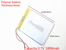 3.7V 1800mAh 405060 Lithium Polymer Li Po li ion Rechargeable Battery cells For Mp3 MP4 MP5 GPS PSP mobile bluetooth