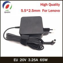 Caricabatterie portatile 20V 3.25A 65W 5.5*2.5mm per Lenovo G460 Y460 G470 Y470 G480 Y410P U130 U165 U350 U310 U410 U430 U450 U450P U460