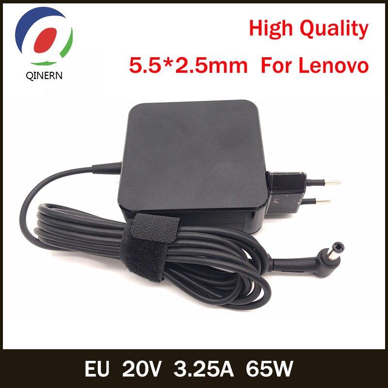 QINERN EU 20V 3.25A 65W 5.5*2.5mm AC Laptop Charger For Lenovo Y460 G480 V470 Z470 125A125F C466A Laptop Adapter For Lenovo