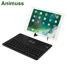 Animuss 2 in 1 Wireless Universal Charger Charging Bluetooth Backlit Keyboard For iPhone/iPad/IOS/Android/Samsung