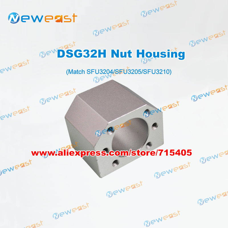 1Pcs Nut Housing Bracket Holder DSG32H match SFU3204 SFU3205 <font><b>SFU3210</b></font> Ballscrews # DIY CNC Part image