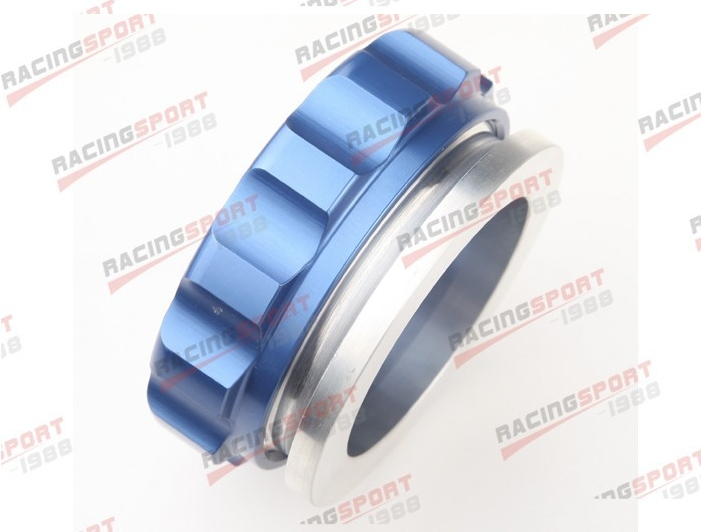 2 50.8mm Aluminium Alloy Weld On Filler Neck And Cap Oil, Fuel, Water Tank Blue