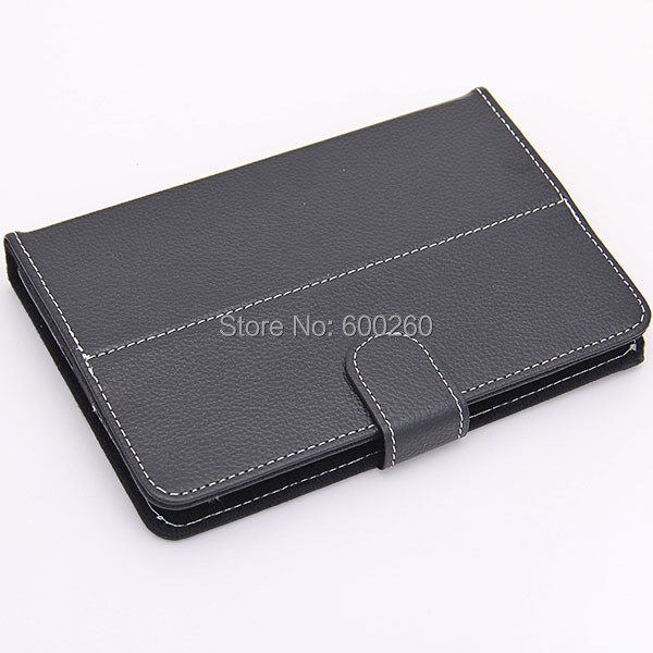 Free shipping Black 7 Inch Tablet PC Leather Case Protecting Jacket