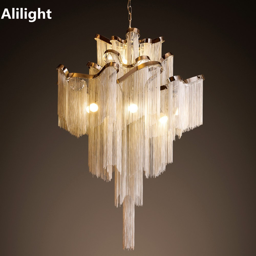 Elegant top grade luxury waterfall chandelier lamp adustable chain 1 chandeliernot include bulb e148 arubaitofo Choice Image