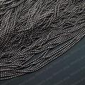 (15059)Metal Jewelry Link Necklace Chains Copper Gun Metal black Chain beads:1.2MM 1.2MM Bead chain 5 Meter