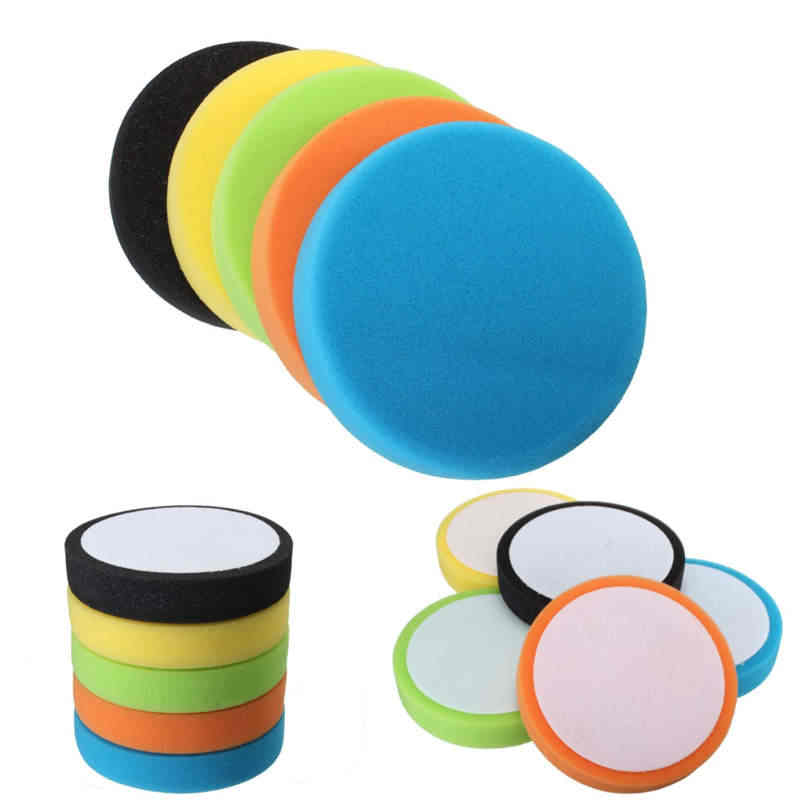 Wholesale Price 1Pc 6 inch Flat Sponge For Buff Polishing Pad Kit For Car Polisher Pads -Select Set & Color 6inch
