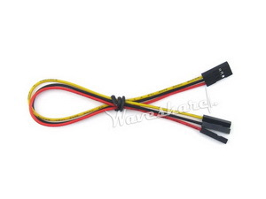 20pcs/lot Jumper Wire 3-pin To Separated Pins 3 Pin Female Connector In One End Separated  In Other End Pitch 2.54mm Color Cable