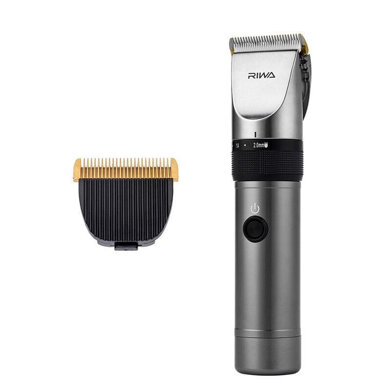 Faible bruit RIWA X9 électrique coupe de cheveux titane lame en céramique coupe de cheveux coupe de cheveux outil de barbier tondeuse rasoir + lame supplémentaire