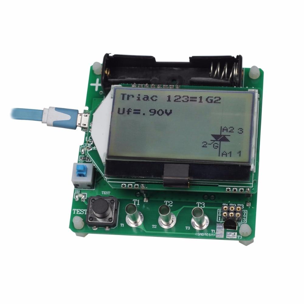 BSIDE ESR02 Digital Transistor Tester Diode Triode F C R MOS/PNP/NPN M328 Inductance Capacitance ESR Meter transistor tester detect ic meter maintenance digital led tester mos pnp npn