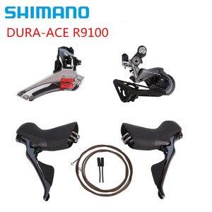 Image 2 - SHIMANO DURA ACE R9100 R9120 R9170 Groupset vites yol bisikleti ST + FD + RD ön arka attırıcı çift kontrol kolu vites