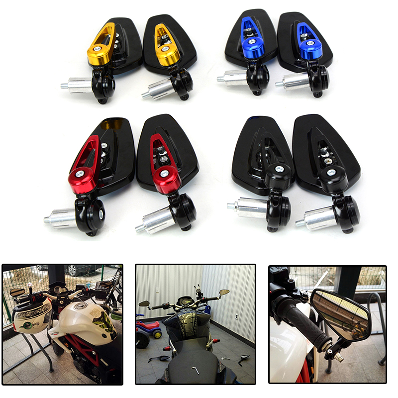Universal motorcycle Scooter Rearview Mirrors for Kawasaki NINJA 250R Z125 NINJA 300r ZX6R/636 ZX10R Z750R z800 z1000 mt-09 mt07