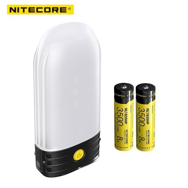 NITECORE LR50 ładowalna latarnia kempingowa i Power Bank 9x wysoki CRI LEDs 250 lumenów wykorzystuje baterie 2x18650 lub 4xCR123A