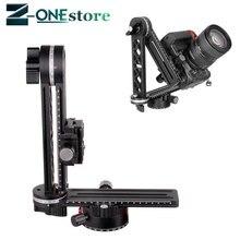XILETU 720 Derece Panoramik Kafa Alüminyum Alaşım Topu Kafa Quick Release Plaka Taşıma Çantası Nikon Canon Sony için DSLR kamera