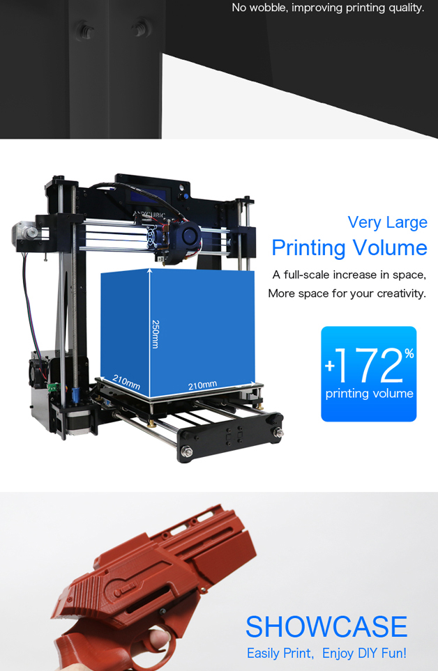 Anycubic 3D printer impresora 3d Newest Upgrade imprimante 3d Prusa i3 3d printer Kit High Precision Ultrabase Platfrom (8)