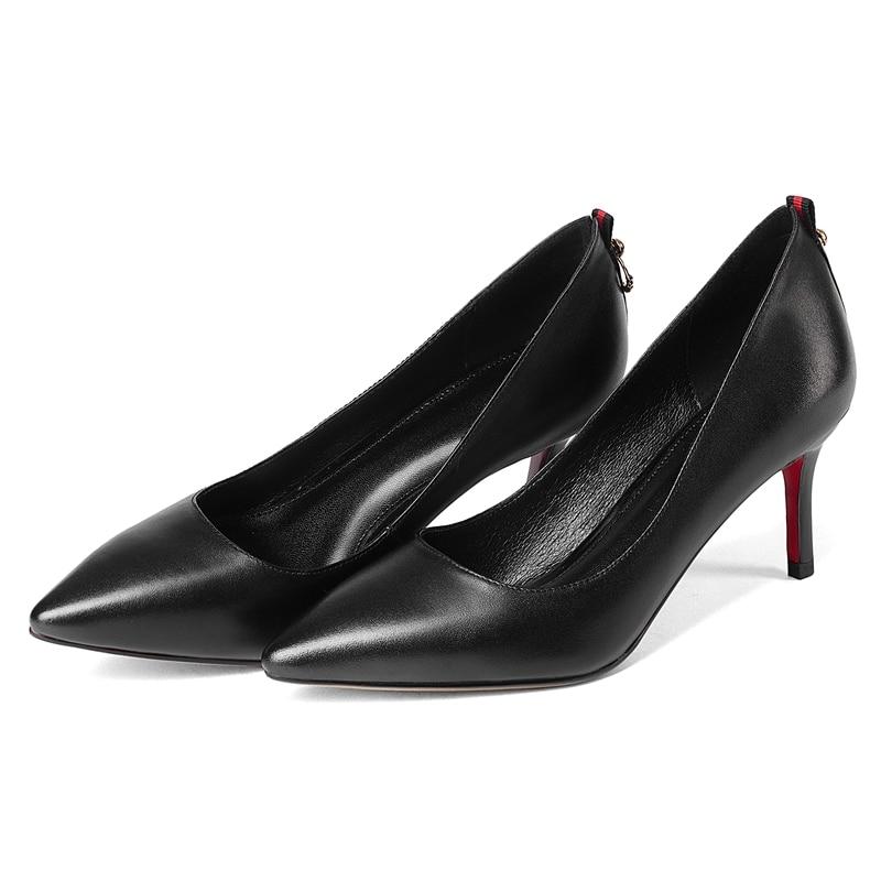 34 Black 39 Cuir green Sandalia Décontracté Slip Sapato Enmayla Feminina Pour Zyl2016 Véritable on Pointu En Taille Chaussures Bout Feminino Femmes qHpBTwa