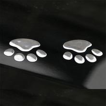 1 Pair Car Sticker 3D Animal Dog Cat Bear Foot Paw Prints Footprint car-styling for bmw e39 e46 ford focus 2 toyota passat b5